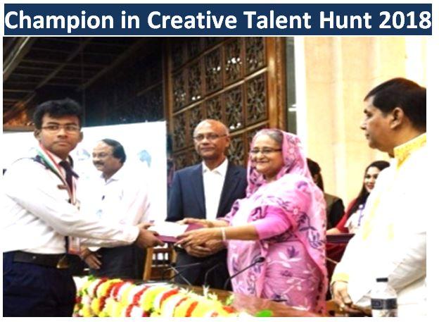 Champion in Creative Talent Hunt 2018